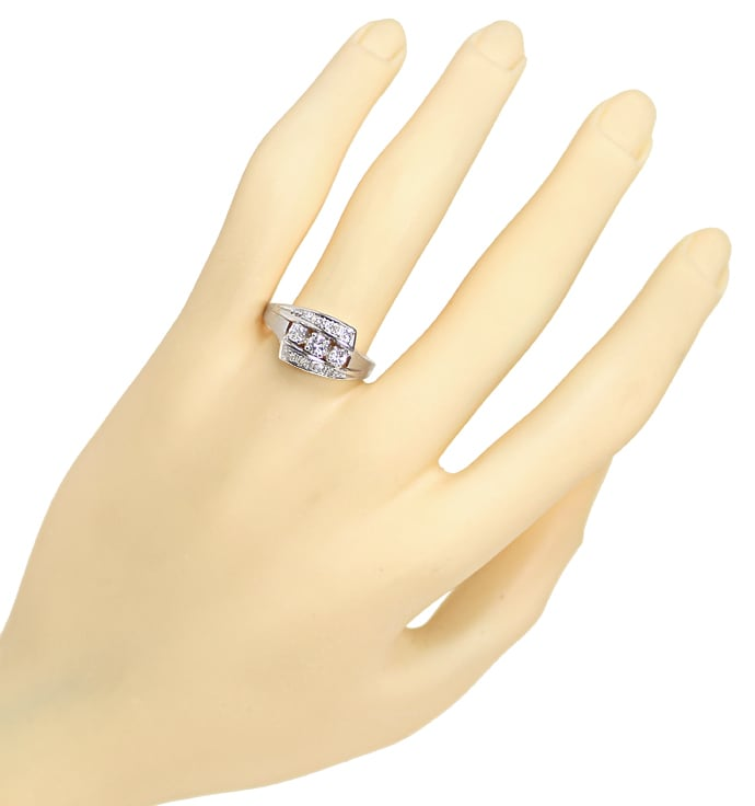 Foto 4 - Damenring mit 0,42ct Diamanten in 14K Weissgold, S1882
