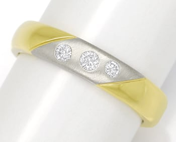 Foto 1 - Diamantring 14K Bicolor Gold 0,12ct Brillanten, S1883