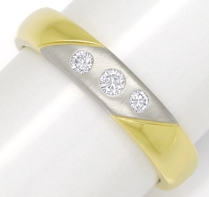 Foto 2 - Diamantring 14K Bicolor Gold 0,12ct Brillanten, S1883