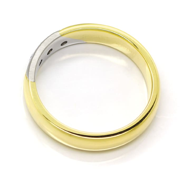 Foto 3 - Diamantring 14K Bicolor Gold 0,12ct Brillanten, S1883