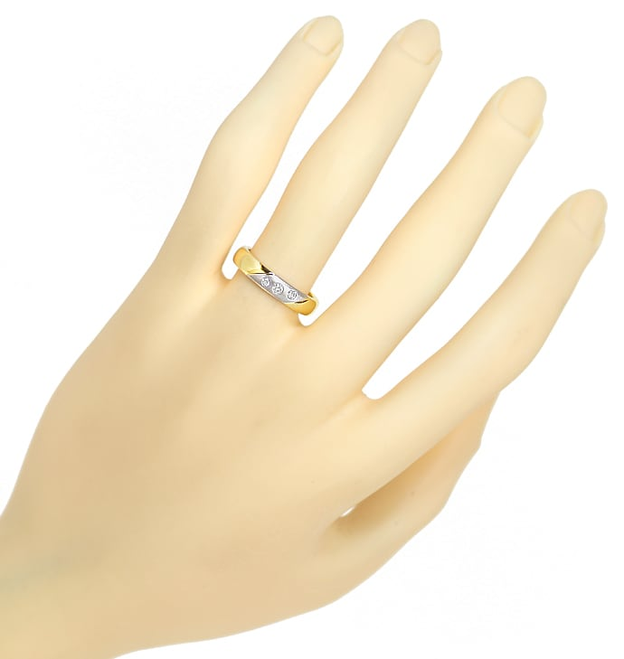 Foto 4 - Diamantring 14K Bicolor Gold 0,12ct Brillanten, S1883