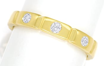Foto 1 - Diamantring mit 0,14ct Brillanten in 750er Gold, S1890