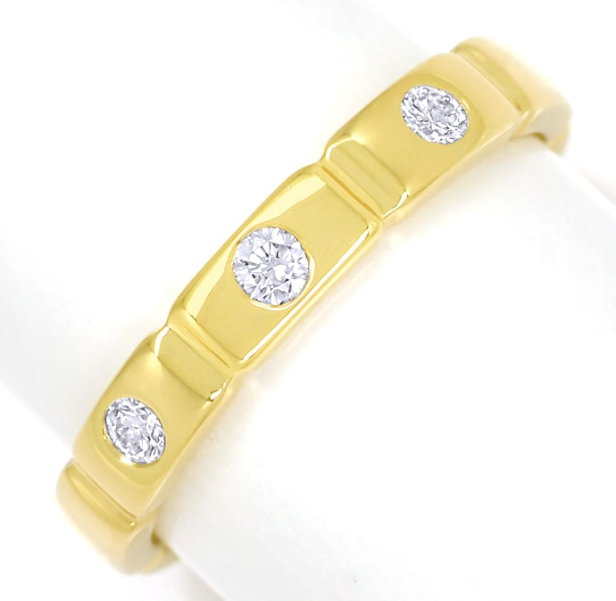 Foto 2 - Diamantring mit 0,14ct Brillanten in 750er Gold, S1890