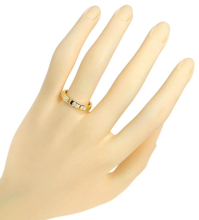 Foto 4 - Diamantring mit 0,14ct Brillanten in 750er Gold, S1890