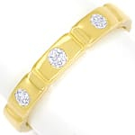 Diamantring mit 0,14ct Brillanten in 750er Gold
