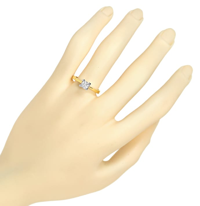 Foto 4 - Diamantring 0,40ct Brillant Solitär 585er Gold, S1894