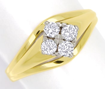 Foto 1 - Diamantring mit 0,34ct Brillanten in 585er Gold, S1902