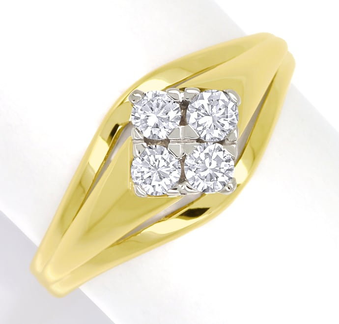 Foto 2 - Diamantring mit 0,34ct Brillanten in 585er Gold, S1902