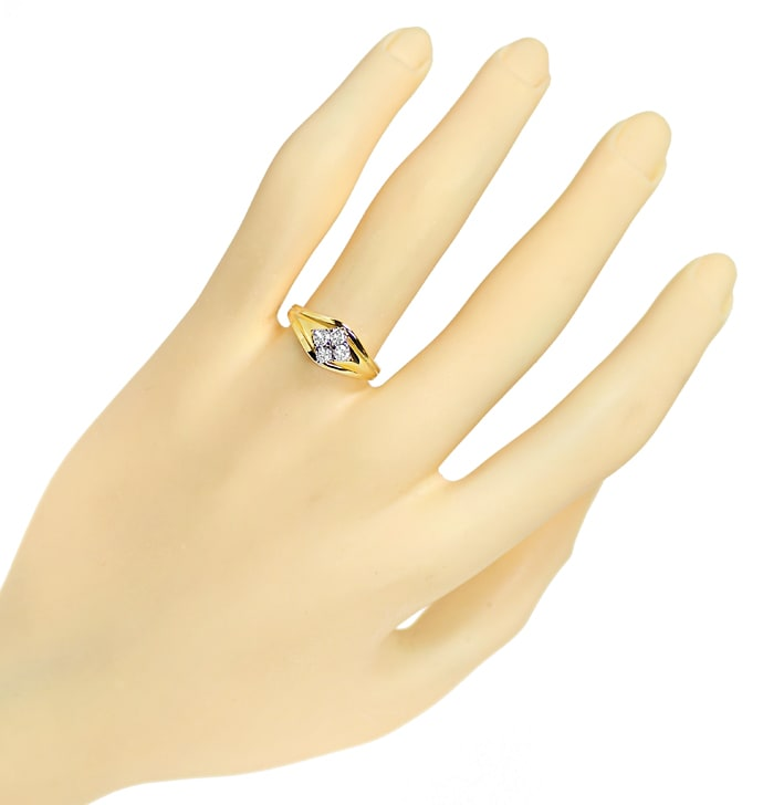 Foto 4 - Diamantring mit 0,34ct Brillanten in 585er Gold, S1902