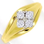 Diamantring mit 0,34ct Brillanten in 585er Gold