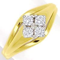 zum Artikel Diamantring mit 0,34ct Brillanten in 585er Gold, S1902