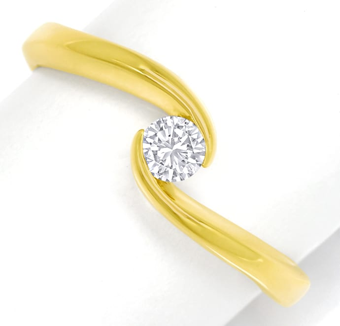 Foto 2 - Diamantring mit 0,17ct Brillant Solitär 18K Gold, S1909