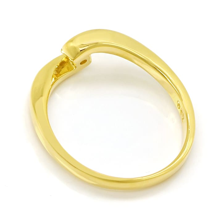 Foto 3 - Diamantring mit 0,17ct Brillant Solitär 18K Gold, S1909