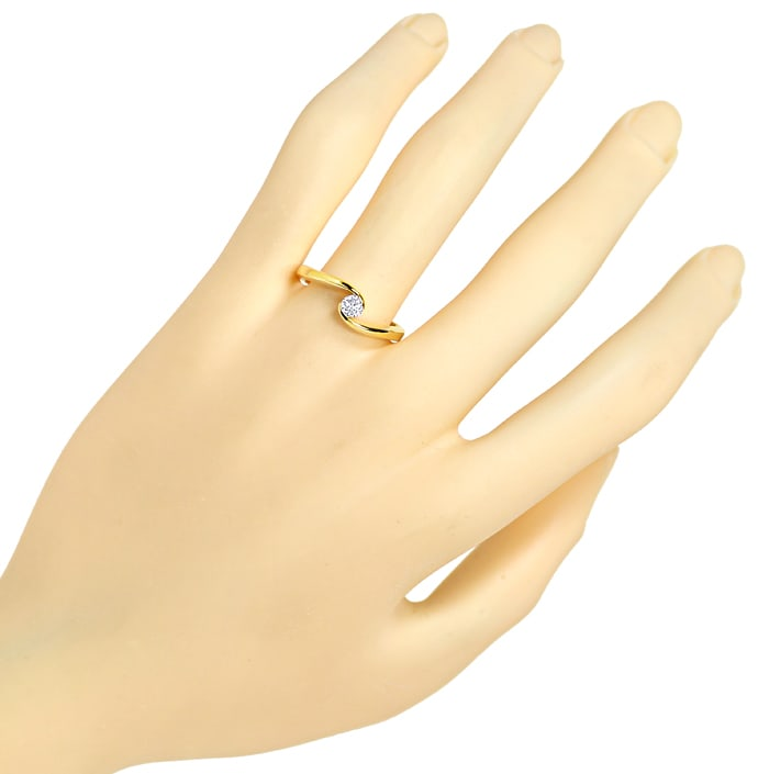 Foto 4 - Diamantring mit 0,17ct Brillant Solitär 18K Gold, S1909