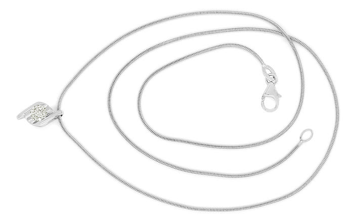 Foto 1 - Collier mit 0,30ct Brillant Solitaer in 750er Weissgold, S1910