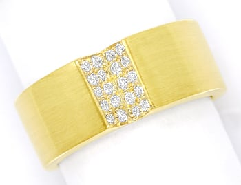 Foto 1 - Design Diamantring mit 0,20ct Brillanten 14K Gold, S1913