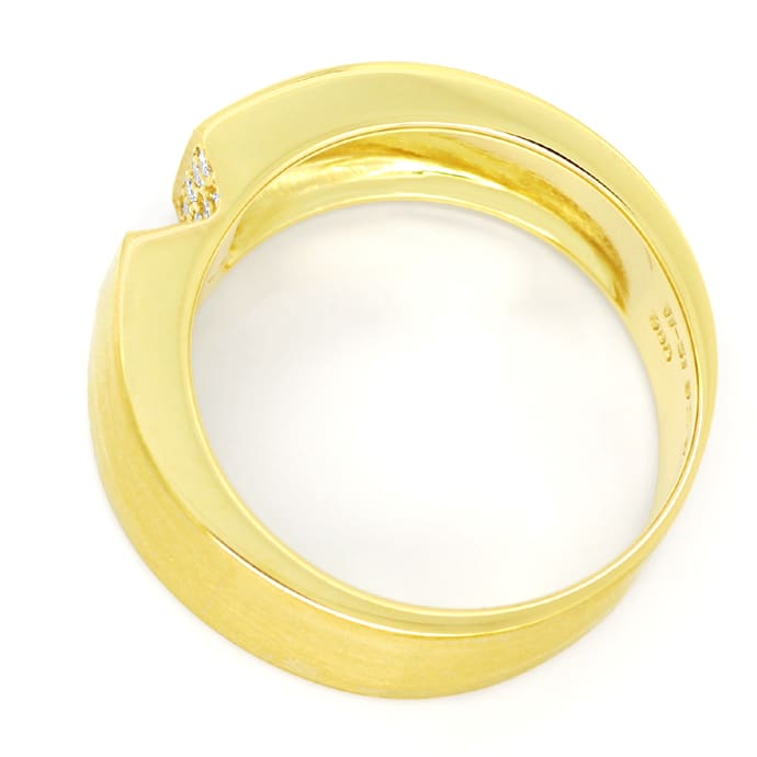 Foto 3 - Design Diamantring mit 0,20ct Brillanten 14K Gold, S1913