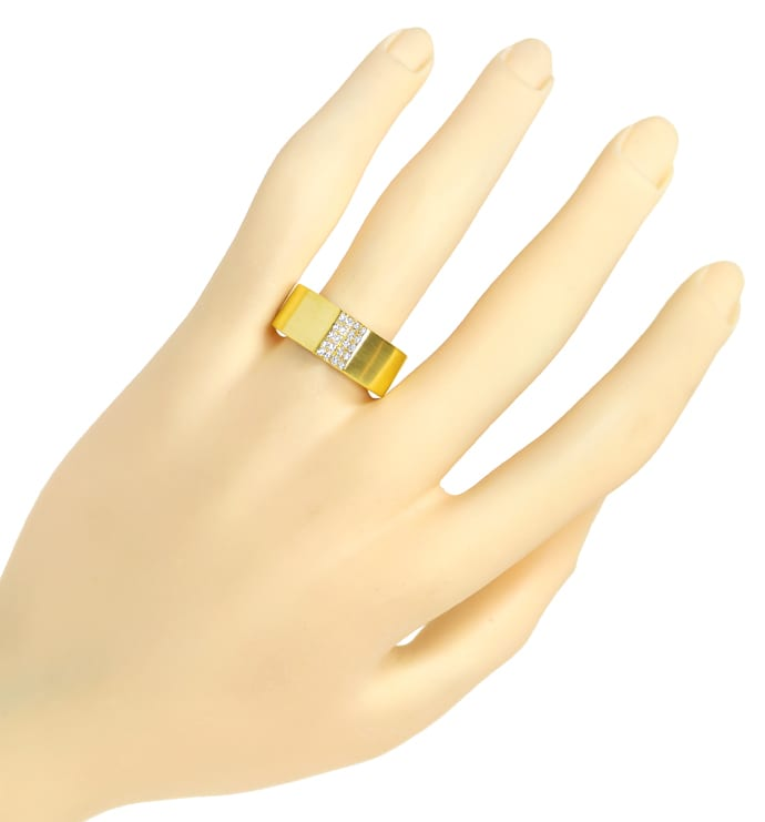 Foto 4, Design Diamantring mit 0,20ct Brillanten 14K Gold, S1913