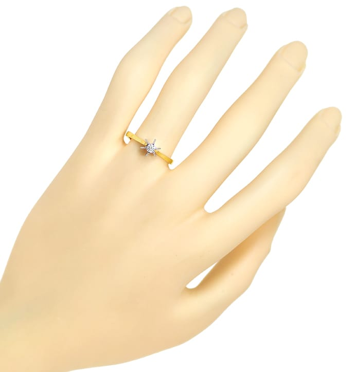 Foto 4 - Diamantring mit 0,10ct Brillant Solitär in 14K Gold, S1916
