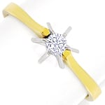 Diamantring mit 0,10ct Brillant Solitär in 14K Gold