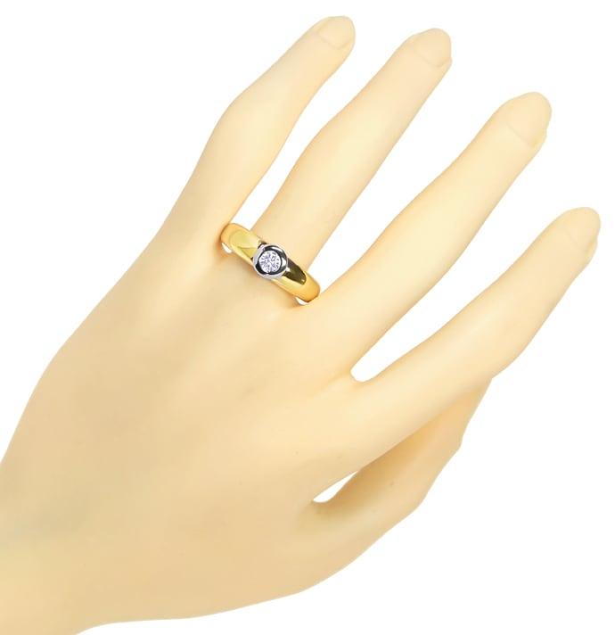 Foto 4 - Herrenring mit 0,32ct Brillant Solitär in 18K Gold, S1924