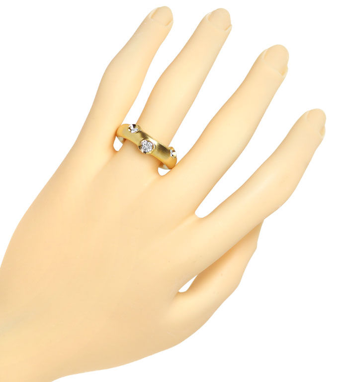 Foto 4, Niessing Diamantring mit 0,43ct Brillanten 18K Gelbgold, S1943