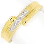 Designer Diamantring 5 Brillanten in 14K Gold