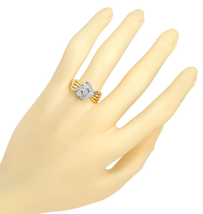 Foto 4 - Attraktiver Damenring 0,56ct Diamanten 14K Gold, S2002