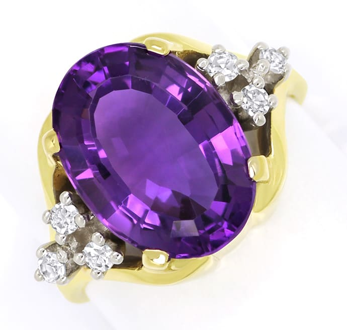Foto 2 - Diamantring mit 5,8ct Amethyst und Diamanten in 585er , S2005