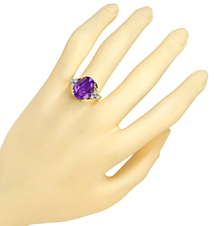 Foto 4 - Diamantring mit 5,8ct Amethyst und Diamanten in 585er , S2005