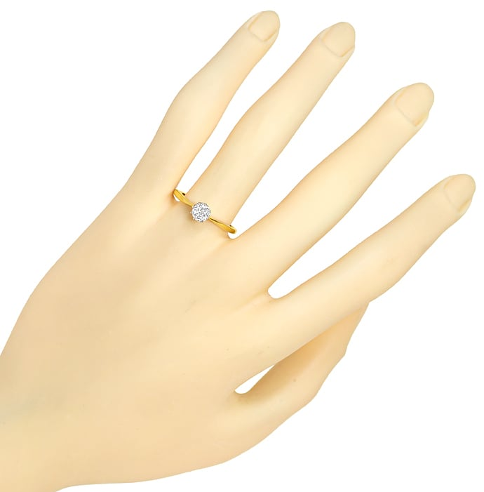 Foto 4, Antiker Solitär Diamantring 0,40ct in 14k Gold, S2011