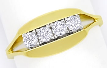 Foto 1 - Diamantring mit 0,40 Carat Brillanten in 14K Gold, S2026