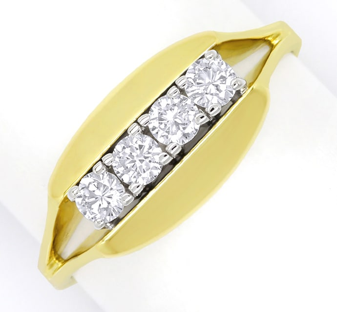 Foto 2 - Diamantring mit 0,40 Carat Brillanten in 14K Gold, S2026