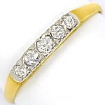 Antiker Halbmemoryring 0,20ct Diamanten 14k Gold
