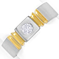 zum Artikel Designer Ring 0,18ct Brillant in massiv Platin, Gold, S2031
