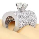 Platin Ring 1,5ct Solitär Brillant und 2ct Diamanten