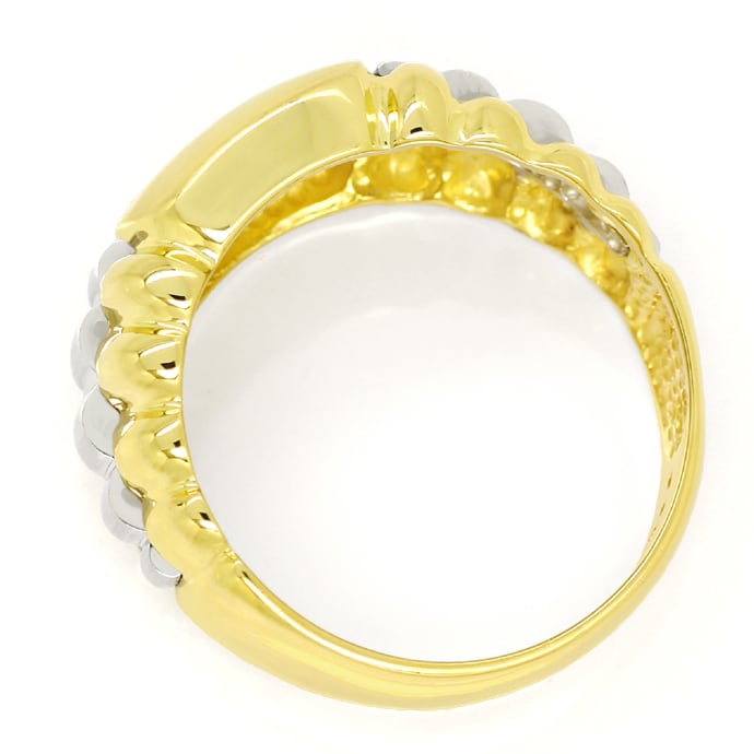 Foto 3, Herrenring lupenreiner 0,22ct Brillant 14K Gold, S2043