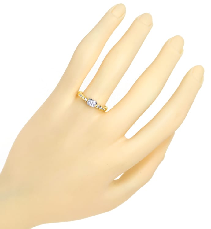 Foto 4, Design Ring mit lupenreinen Diamanten 18K Gold, S2044