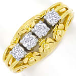 Diamantring Blumen mit 0,51ct Brillanten 14K Gold
