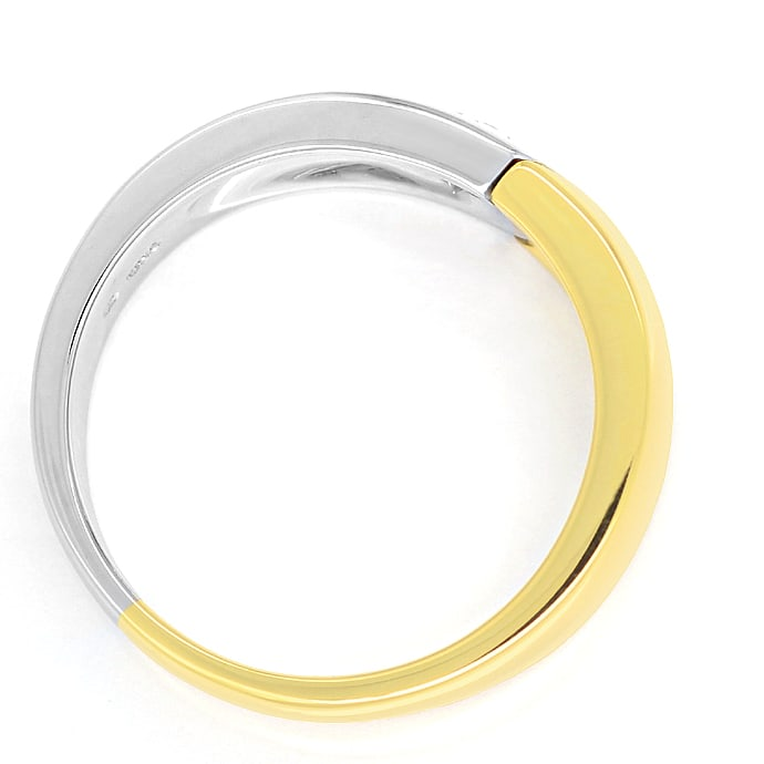 Foto 3 - Designer Bandring mit 0,23ct Brillant in 18K Bicolor Gold, S2058
