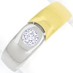 Designer Bandring mit 0,23ct Brillant in 18K Bicolor Gold