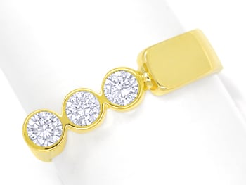 Foto 1, Designer Diamantring 0,6ct Brillanten in Gelbgold, S2069