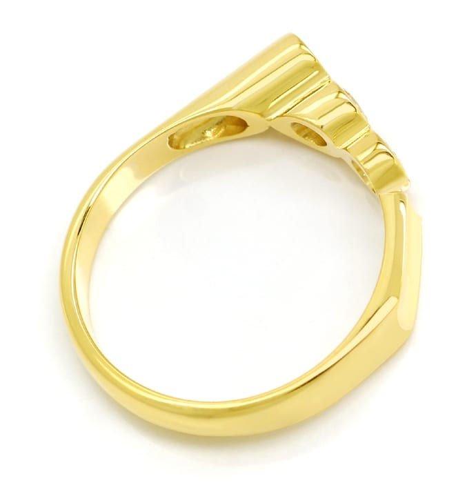Foto 3, Designer Diamantring 0,6ct Brillanten in Gelbgold, S2069