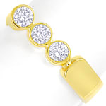 Designer Diamantring 0,6ct Brillanten in Gelbgold