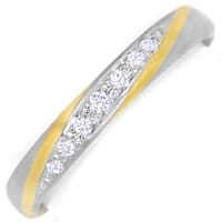 zum Artikel Designer Diamantring 0,09ct Brillanten Bicolor Gold, S2086