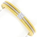 Diamantring mit 0,12ct Princess Cut in 750er Gold