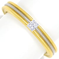 zum Artikel Diamantring mit 0,12ct Princess Cut in 750er Gold, S2087