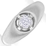 Diamantring lupenreiner 0,29ct Brillant Weissgold