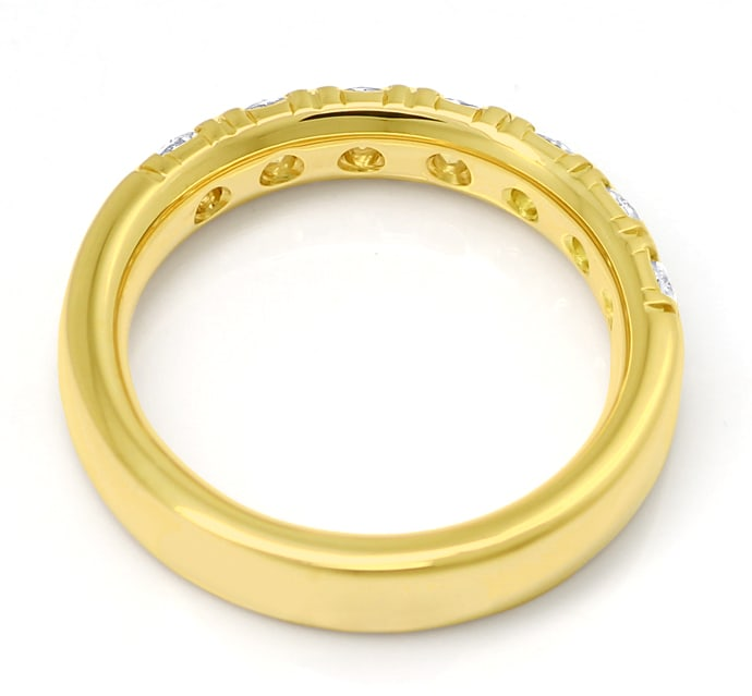 Foto 3 - Allianzring mit 0,91ct Brillanten in 18K Gelbgold, S2102