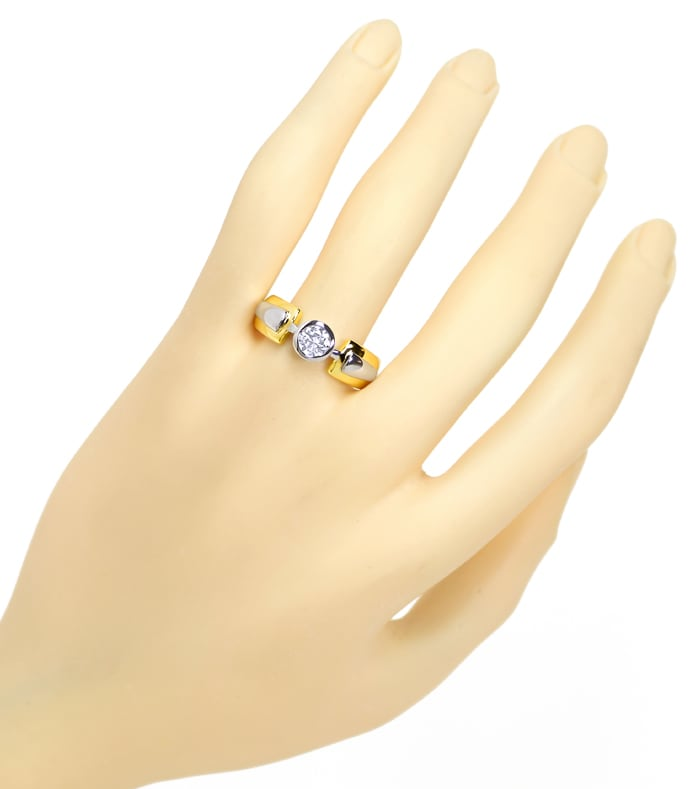 Foto 4 - Design Brillantring 0,59ct Solitär in Bicolor Gold, S2103